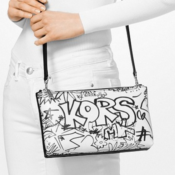 fb0c0333912a MICHAEL Michael Kors Bags | Michael Kors Adele Graffiti Leather ...